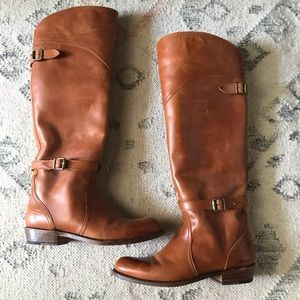 FRYE Melissa Belted Tall Boots